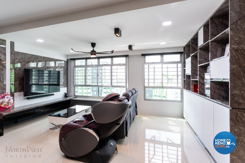 Contemporary Design - Living Room - HDB 5 Room - Design by NorthWest Interior Design Pte Ltd