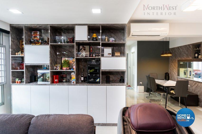 Contemporary Design - Living Room - HDB 5 Room - Design by NorthWest Interior Design Pte Ltd