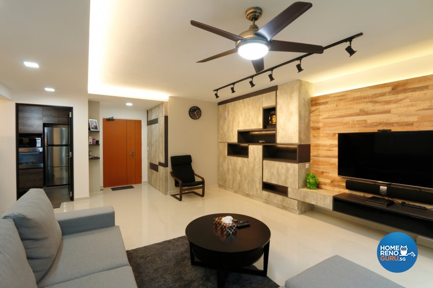 Modern, Vintage Design - Living Room - HDB 5 Room - Design by NorthWest Interior Design Pte Ltd