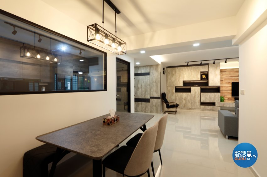 Modern, Vintage Design - Dining Room - HDB 5 Room - Design by NorthWest Interior Design Pte Ltd