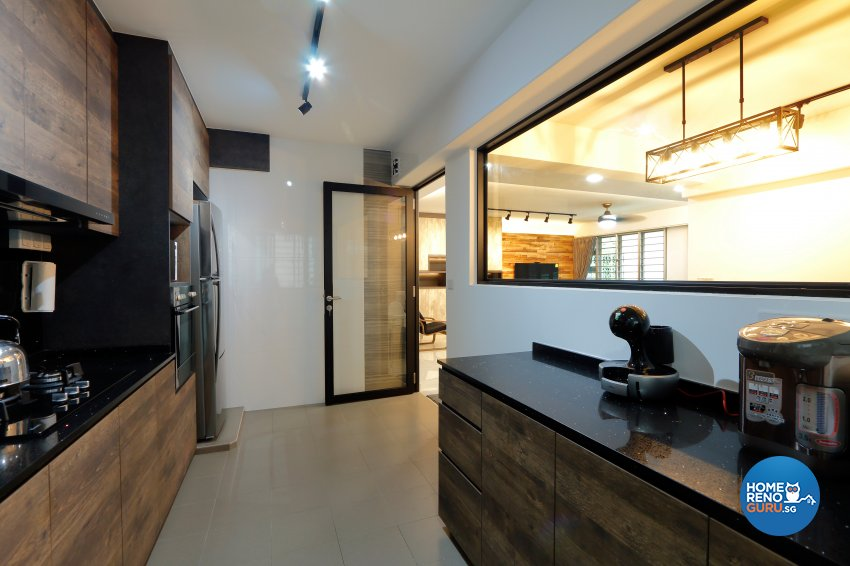 Modern, Vintage Design - Kitchen - HDB 5 Room - Design by NorthWest Interior Design Pte Ltd