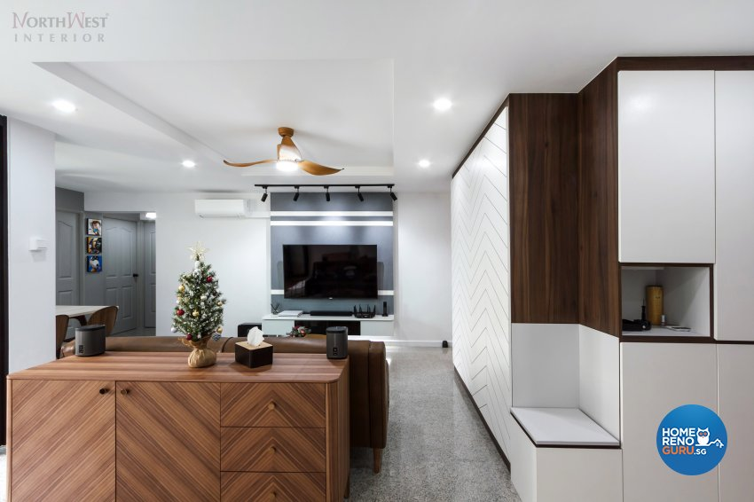 Contemporary, Industrial, Rustic Design - Living Room - HDB 5 Room - Design by NorthWest Interior Design Pte Ltd