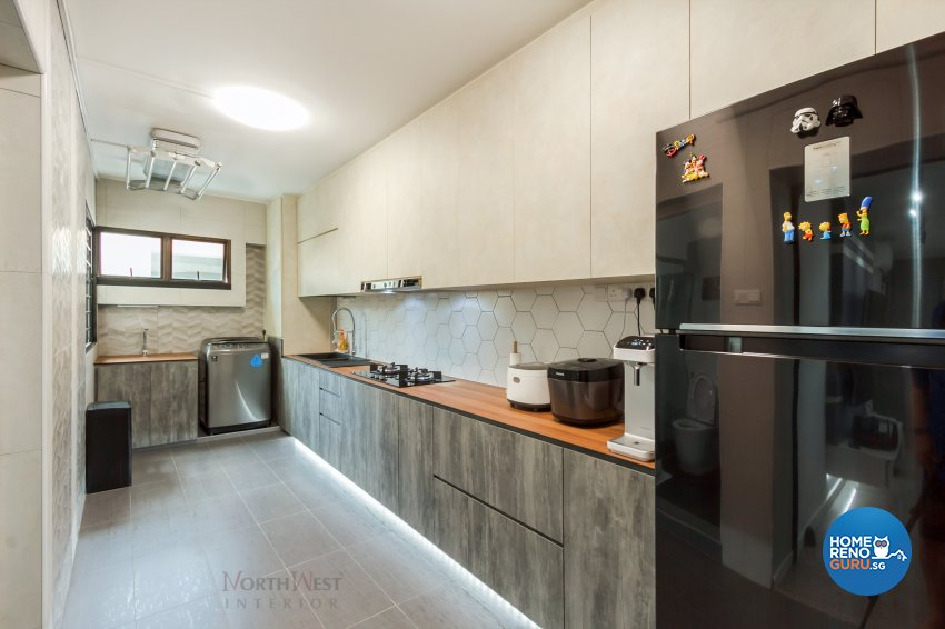Contemporary, Industrial, Rustic Design - Kitchen - HDB 5 Room - Design by NorthWest Interior Design Pte Ltd