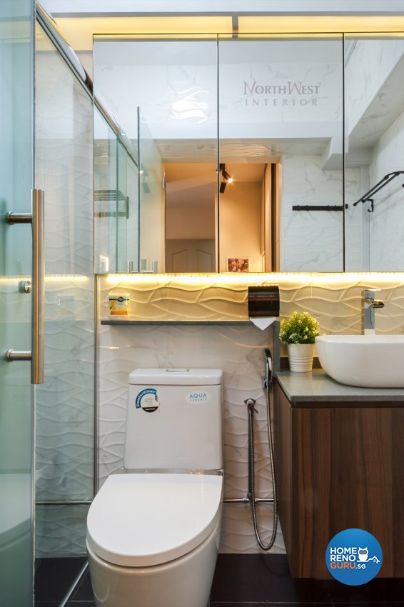 Contemporary, Industrial, Rustic Design - Bathroom - HDB 5 Room - Design by NorthWest Interior Design Pte Ltd