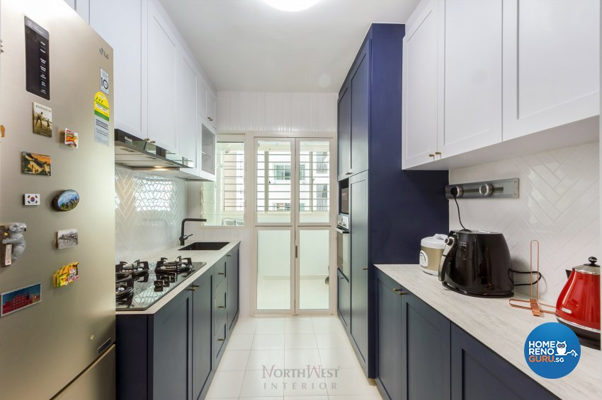 Contemporary, Eclectic Design - Kitchen - HDB 5 Room - Design by NorthWest Interior Design Pte Ltd