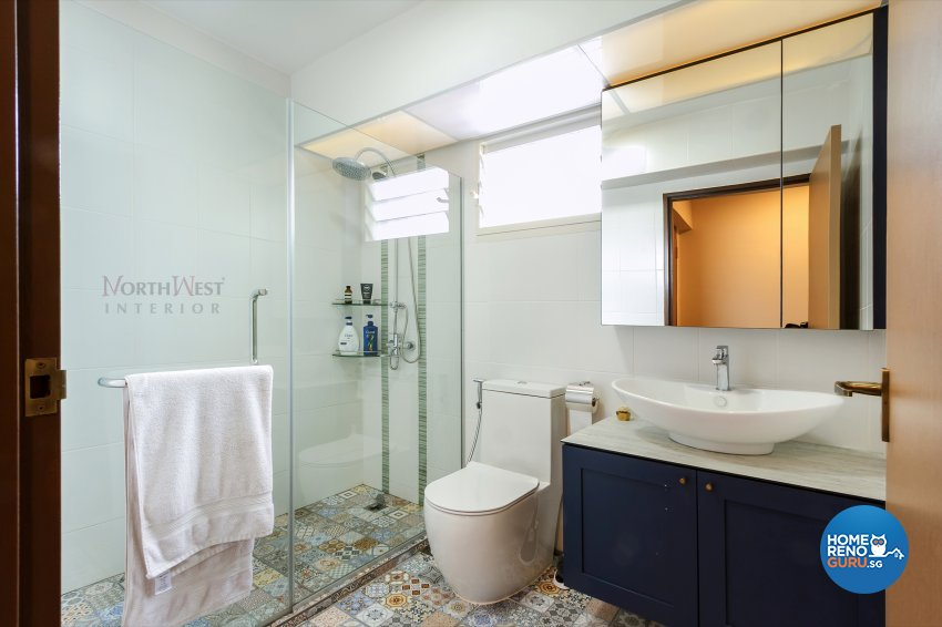 Contemporary, Eclectic Design - Bathroom - HDB 5 Room - Design by NorthWest Interior Design Pte Ltd