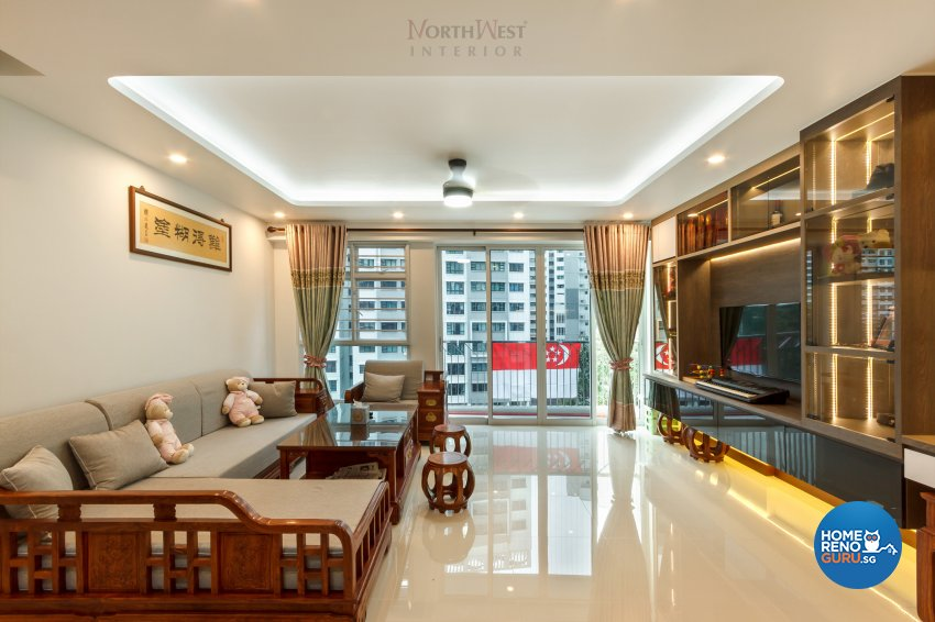 Contemporary, Oriental Design - Living Room - HDB 5 Room - Design by NorthWest Interior Design Pte Ltd