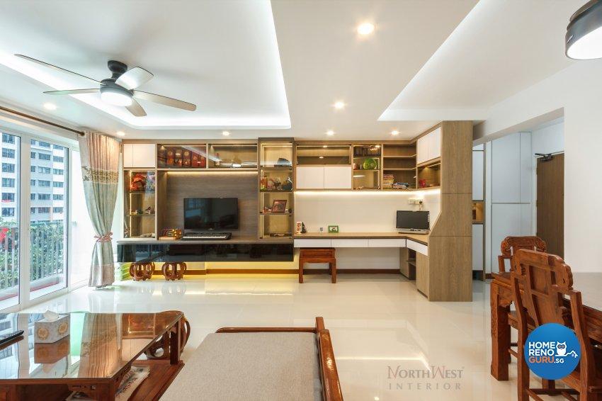 Contemporary, Oriental Design - Living Room - HDB 5 Room - Design by NorthWest Interior Design Pte Ltd