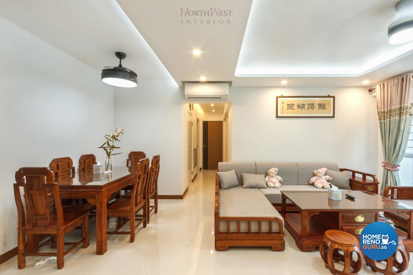 Contemporary, Oriental Design - Dining Room - HDB 5 Room - Design by NorthWest Interior Design Pte Ltd