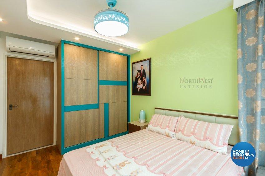 Contemporary, Oriental Design - Bedroom - HDB 5 Room - Design by NorthWest Interior Design Pte Ltd