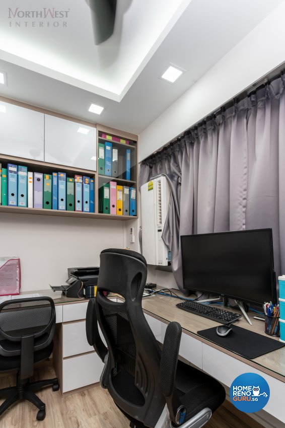 Contemporary, Scandinavian Design - Study Room - HDB 5 Room - Design by NorthWest Interior Design Pte Ltd