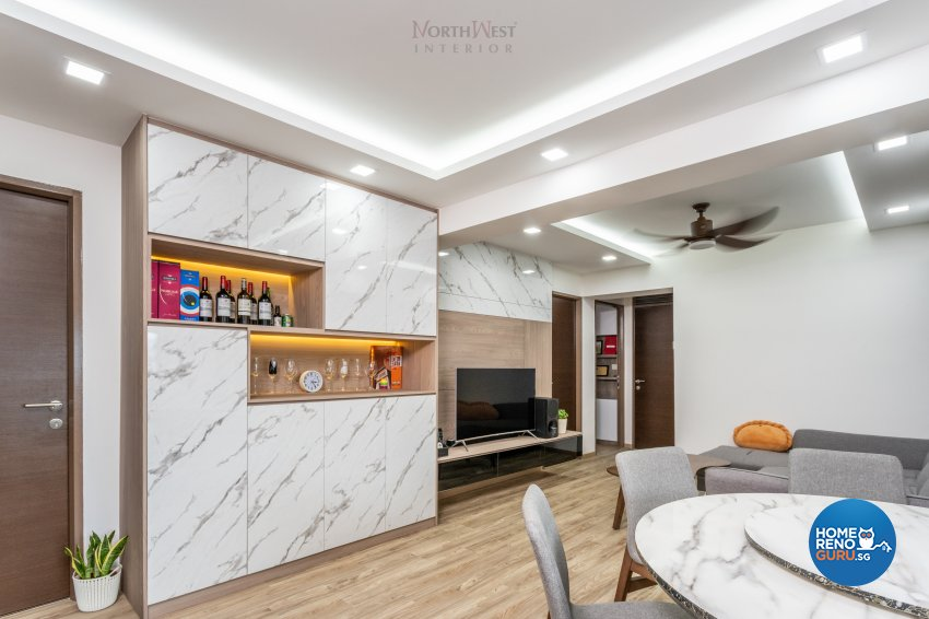 Contemporary, Scandinavian Design - Dining Room - HDB 5 Room - Design by NorthWest Interior Design Pte Ltd