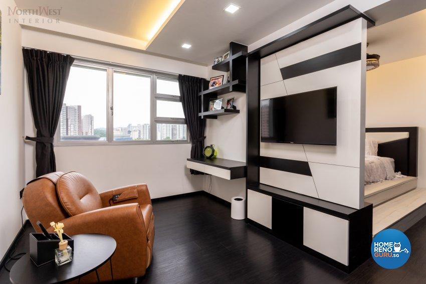 Classical, Contemporary, Modern Design - Entertainment Room - HDB 5 Room - Design by NorthWest Interior Design Pte Ltd