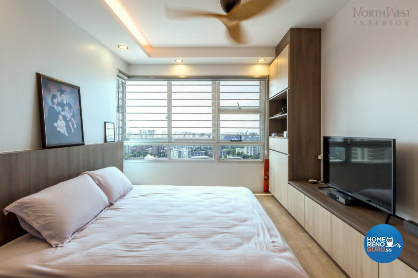 Contemporary Design - Bedroom - HDB 5 Room - Design by NorthWest Interior Design Pte Ltd
