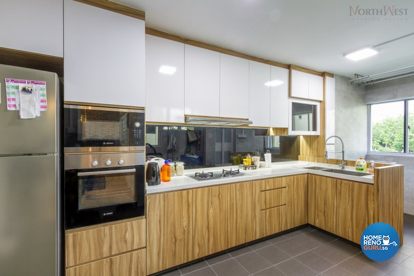 Contemporary Design - Kitchen - HDB 5 Room - Design by NorthWest Interior Design Pte Ltd