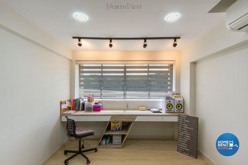 Contemporary Design - Study Room - HDB 5 Room - Design by NorthWest Interior Design Pte Ltd