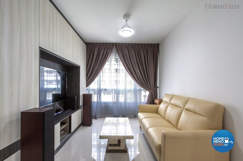 Contemporary, Modern Design - Living Room - HDB 5 Room - Design by NorthWest Interior Design Pte Ltd