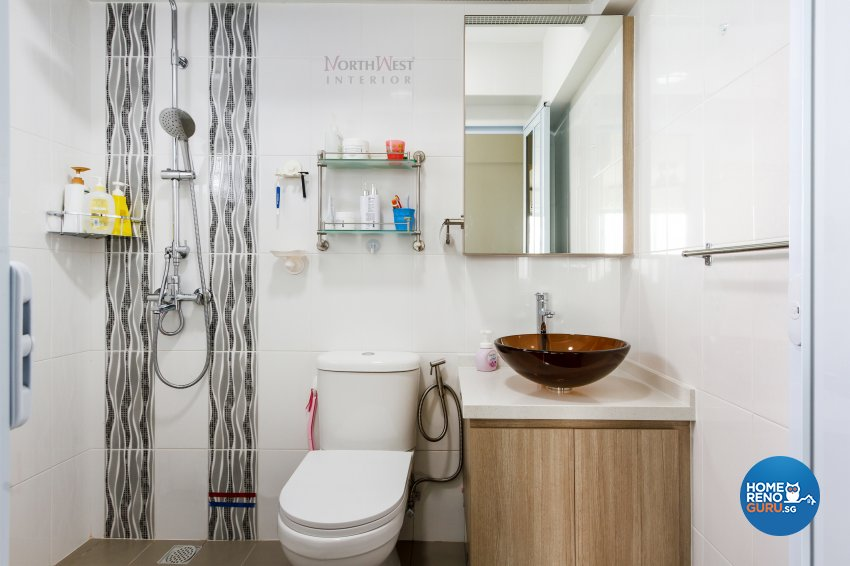 Contemporary, Rustic Design - Bathroom - HDB 5 Room - Design by NorthWest Interior Design Pte Ltd
