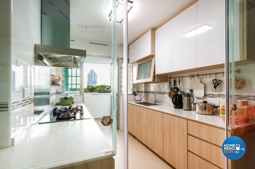 Contemporary, Rustic Design - Kitchen - HDB 5 Room - Design by NorthWest Interior Design Pte Ltd