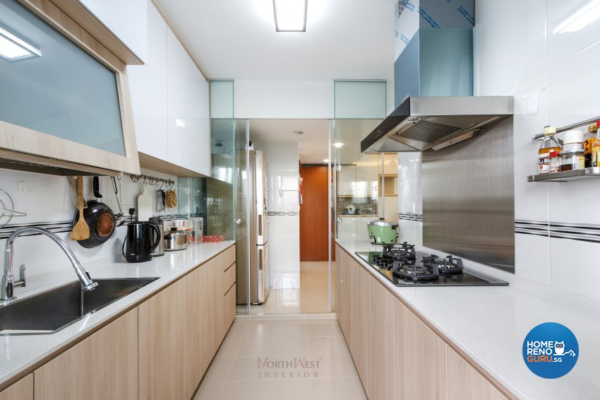 Contemporary, Rustic Design - Kitchen - HDB 5 Room - Design by NorthWest Interior Design Pte Ltd