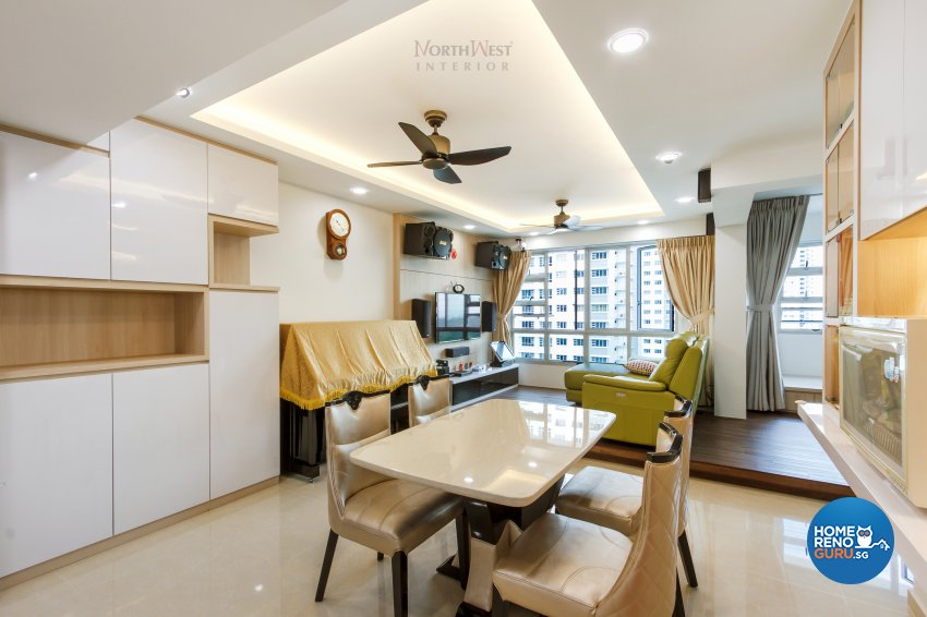 Contemporary, Rustic Design - Dining Room - HDB 5 Room - Design by NorthWest Interior Design Pte Ltd