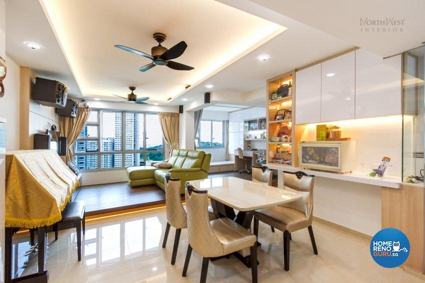 Contemporary, Rustic Design - Dining Room - HDB 5 Room - Design by NorthWest Interior Design Pte Ltd