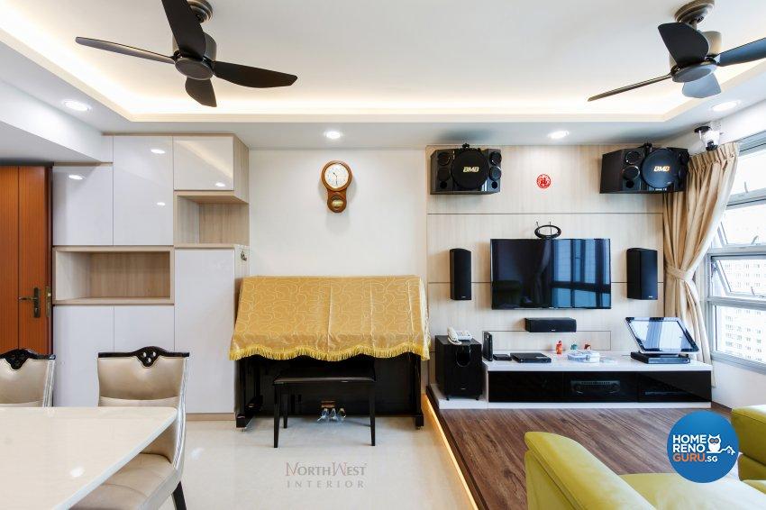 Contemporary, Rustic Design - Living Room - HDB 5 Room - Design by NorthWest Interior Design Pte Ltd