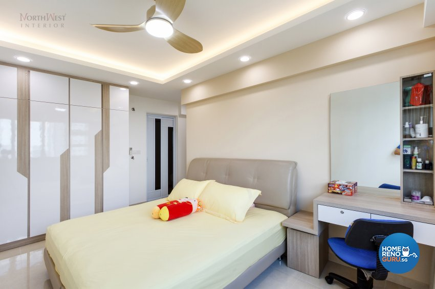 Contemporary, Rustic Design - Bedroom - HDB 5 Room - Design by NorthWest Interior Design Pte Ltd