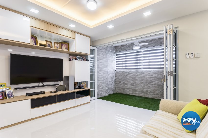 Contemporary, Minimalist Design - Living Room - HDB Executive Apartment - Design by NorthWest Interior Design Pte Ltd