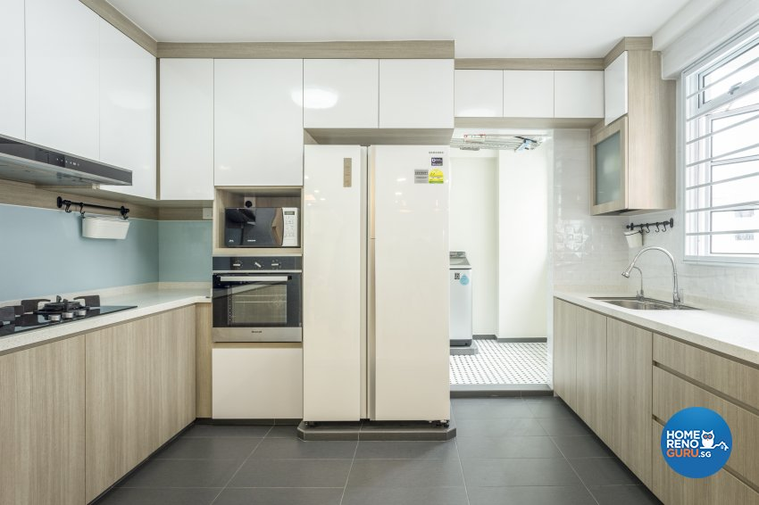 Contemporary, Minimalist Design - Kitchen - HDB Executive Apartment - Design by NorthWest Interior Design Pte Ltd