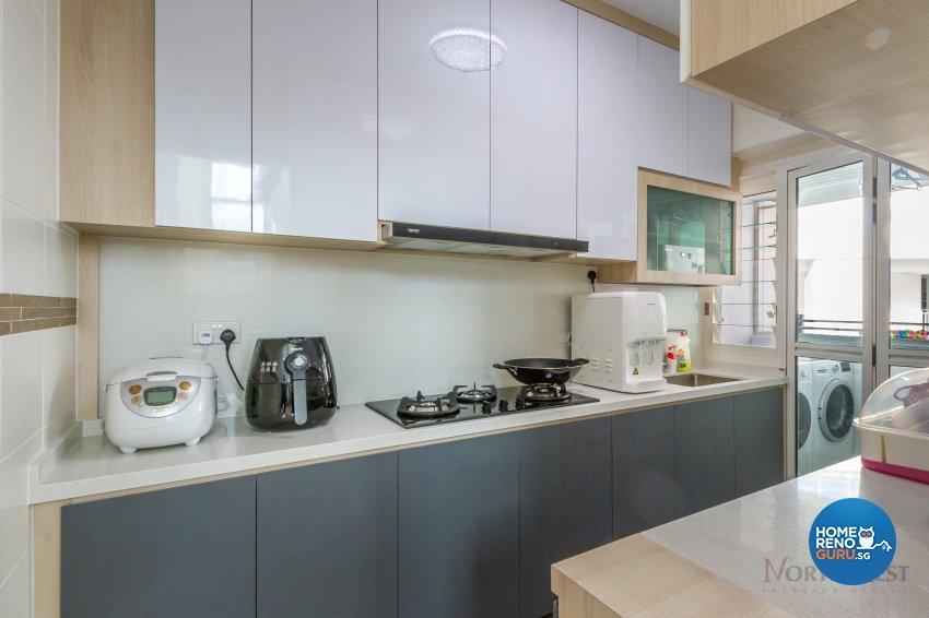 Contemporary, Minimalist Design - Kitchen - HDB 5 Room - Design by NorthWest Interior Design Pte Ltd
