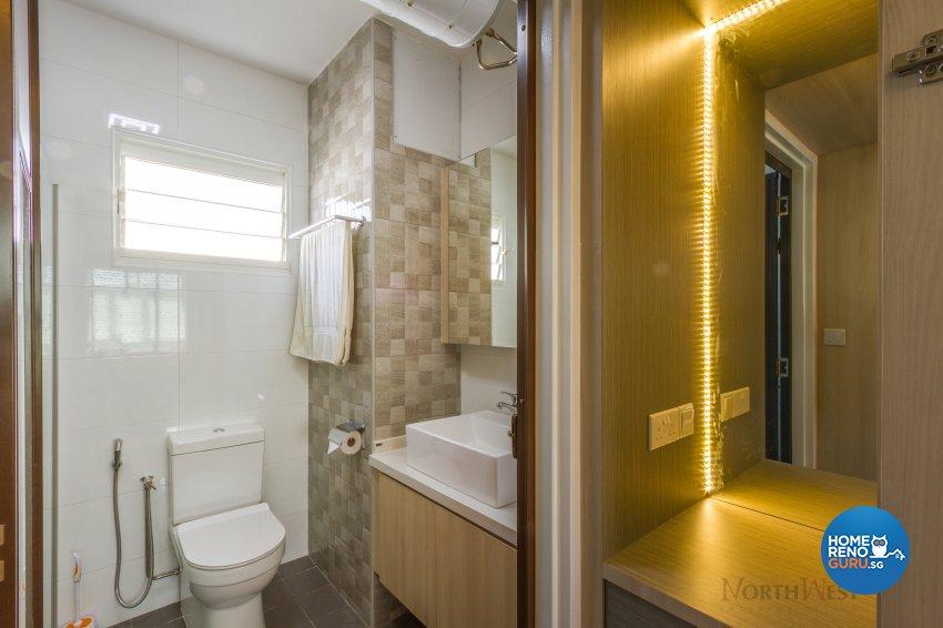 Contemporary, Minimalist Design - Bathroom - HDB 5 Room - Design by NorthWest Interior Design Pte Ltd