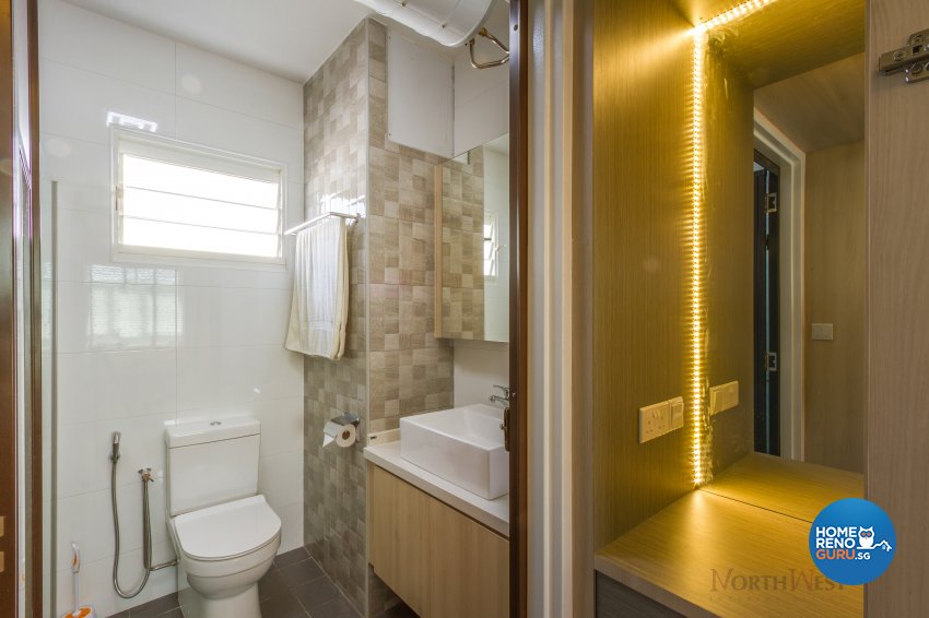 Contemporary, Minimalist Design - Bathroom - HDB 5 Room - Design by NorthWest Interior Design Pte Ltd