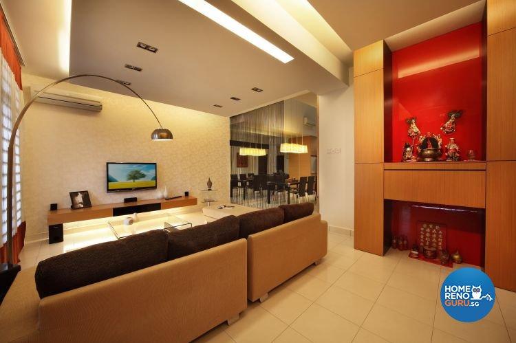 Contemporary, Modern Design - Living Room - Landed House - Design by NorthWest Interior Design Pte Ltd
