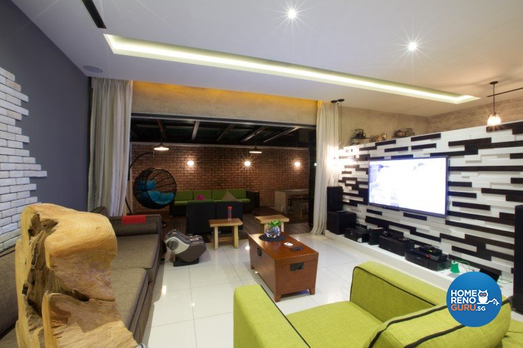 Eclectic, Modern Design - Living Room - Landed House - Design by NorthWest Interior Design Pte Ltd