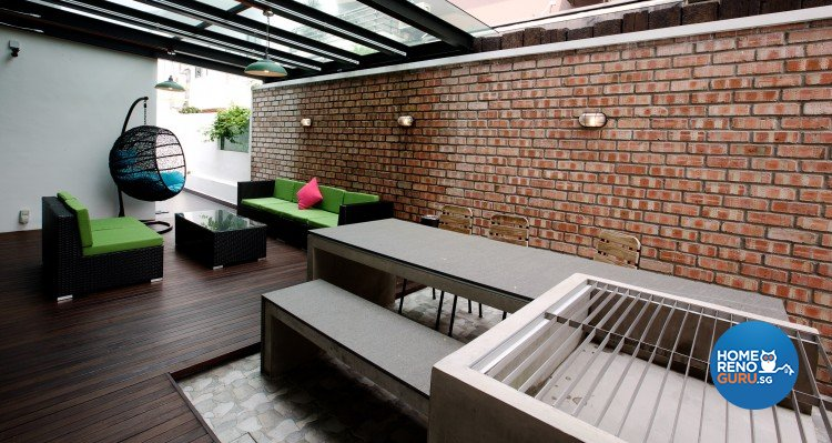 Eclectic, Modern Design - Balcony - Landed House - Design by NorthWest Interior Design Pte Ltd