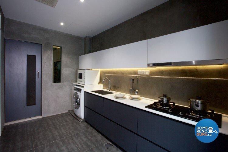 Eclectic, Modern Design - Kitchen - Landed House - Design by NorthWest Interior Design Pte Ltd