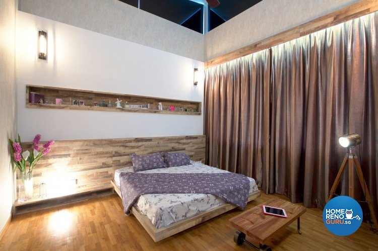 Eclectic, Modern Design - Bedroom - Landed House - Design by NorthWest Interior Design Pte Ltd