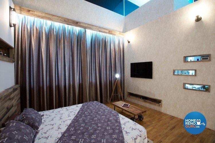 Eclectic, Modern Design - Bedroom - Landed House - Design by NorthWest Interior Design Pte Ltd