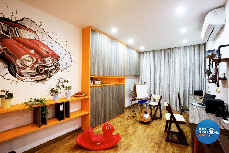 Eclectic, Modern Design - Study Room - Landed House - Design by NorthWest Interior Design Pte Ltd