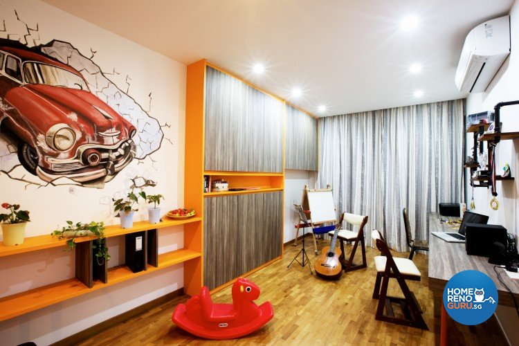Eclectic, Modern Design - Study Room - Landed House - Design by NorthWest Interior Design Pte Ltd