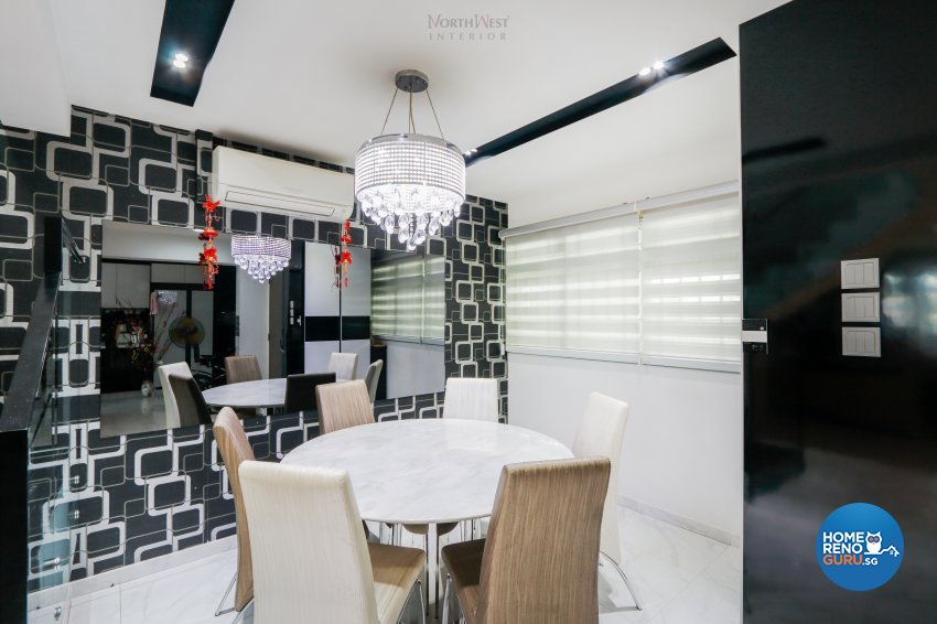 Contemporary, Retro Design - Dining Room - Others - Design by NorthWest Interior Design Pte Ltd