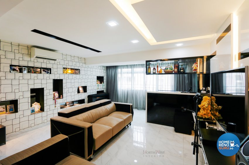 Contemporary, Retro Design - Living Room - Others - Design by NorthWest Interior Design Pte Ltd