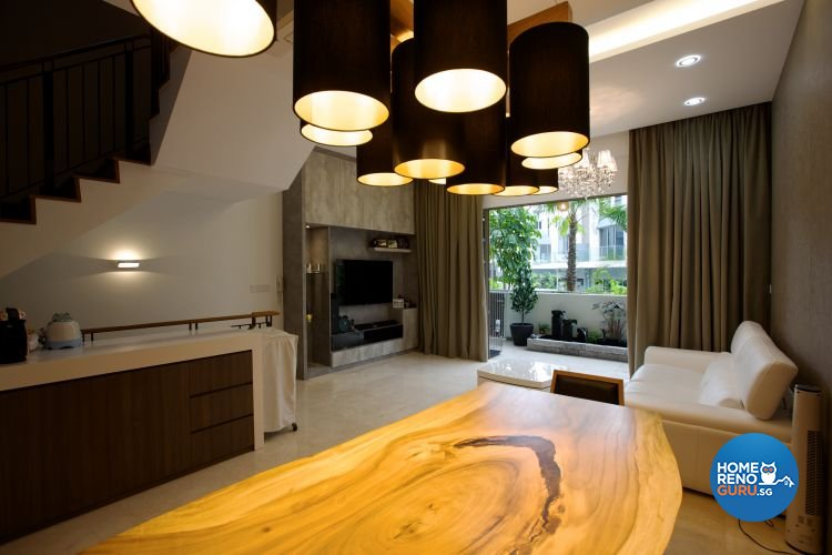 Contemporary, Rustic Design - Dining Room - Landed House - Design by NorthWest Interior Design Pte Ltd