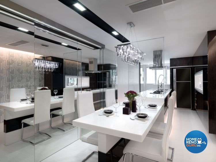 Contemporary, Modern Design - Dining Room - HDB 3 Room - Design by NorthWest Interior Design Pte Ltd