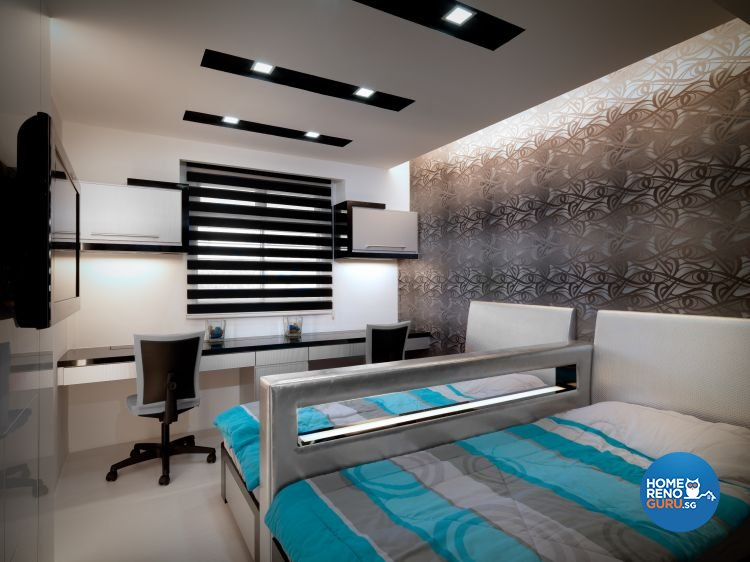Contemporary, Modern Design - Bedroom - HDB 3 Room - Design by NorthWest Interior Design Pte Ltd
