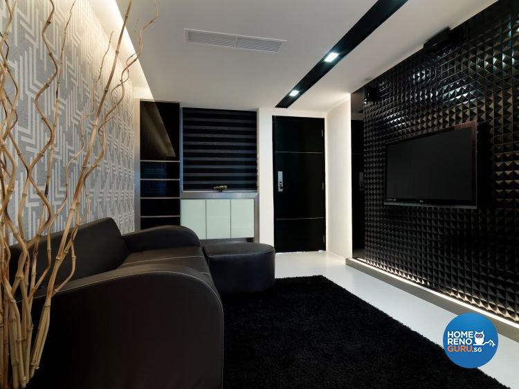 Contemporary, Modern Design - Living Room - HDB 3 Room - Design by NorthWest Interior Design Pte Ltd