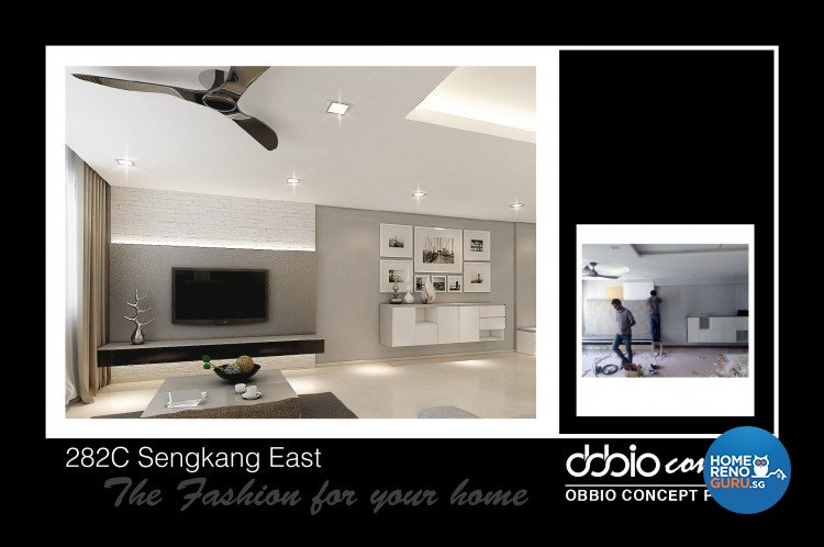 Contemporary, Minimalist, Modern Design - Living Room - HDB 5 Room - Design by obbio concept pte ltd