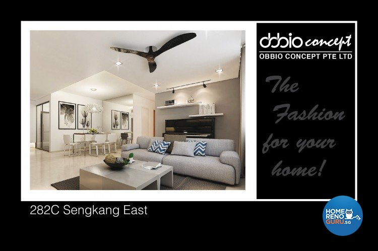 Contemporary, Minimalist, Modern Design - Dining Room - HDB 5 Room - Design by obbio concept pte ltd