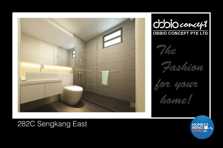 Contemporary, Minimalist, Modern Design - Bathroom - HDB 5 Room - Design by obbio concept pte ltd